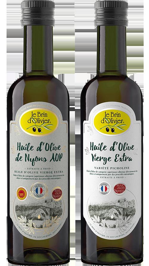 Huiles d'olives françaises - Le Brin d'Olivier