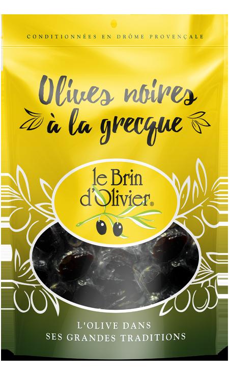 Olives noires à la grecque - Le Brin d'Olivier
