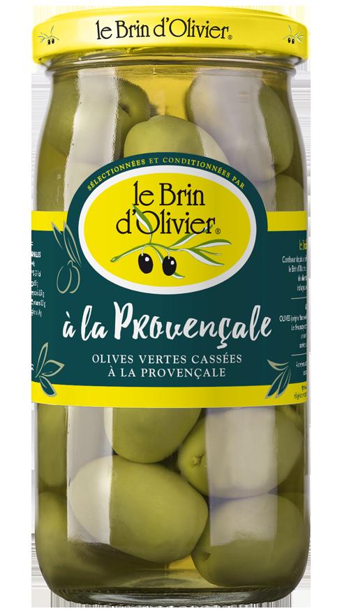 Olives vertes cassées à la Provençale