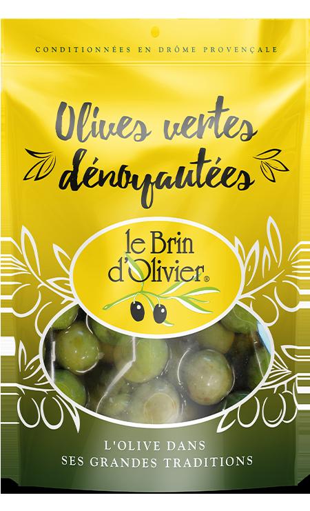 Olives vertes dénoyautées - Le Brin d'Olivier